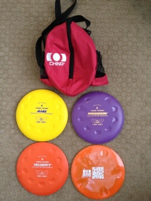 Ching Jam Bag and Golf Discs