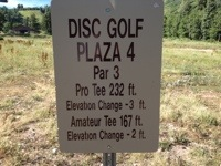 Sign Giving Hole Distances for Both Pro's and Amatuers