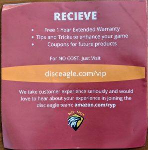 Disc Eagle VIP CLub